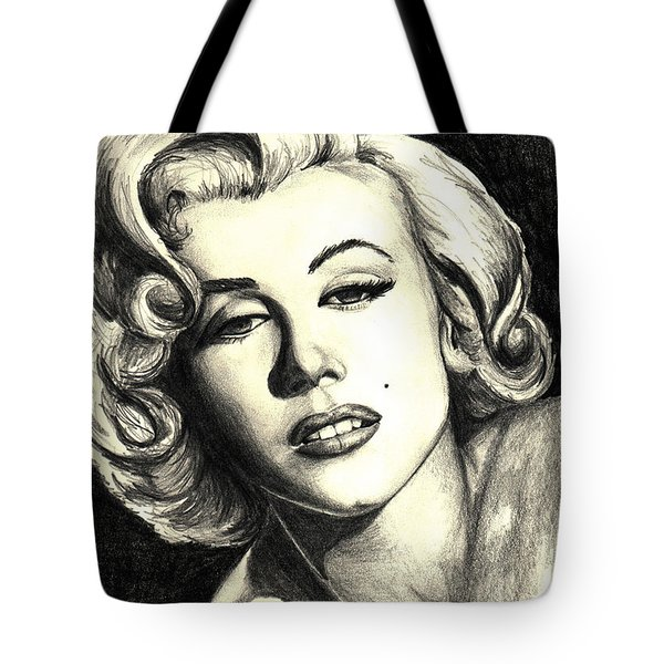 Marilyn Monroe Tote Bag by Debbie DeWitt