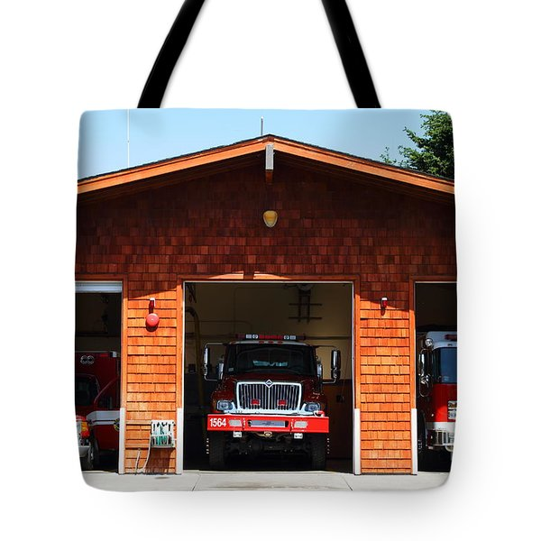 Marin County Fire Department . Point Reyes California . 7D15920 Tote Bag by Wingsdomain Art and Photography