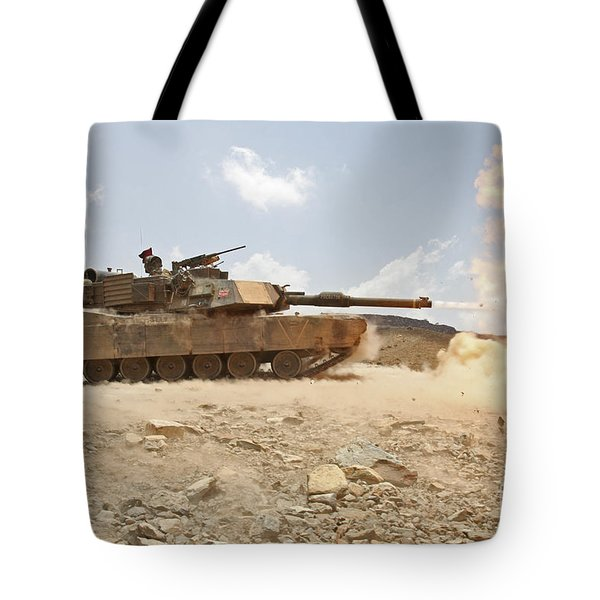 Marines Bombard Through A Live Fire Tote Bag by Stocktrek Images