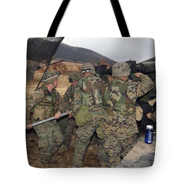 Marines Load A 98-pound High Explosive Tote Bag by Stocktrek Images