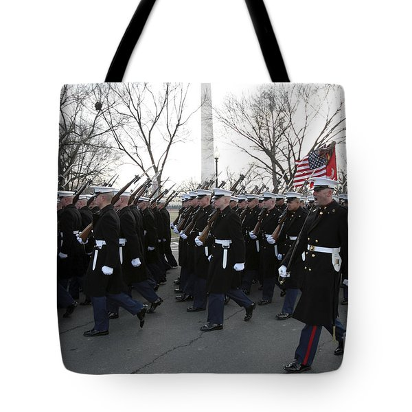 Marines Participate In The 2009 Tote Bag by Stocktrek Images