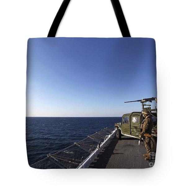 Marines Provide Defense Security Tote Bag by Stocktrek Images