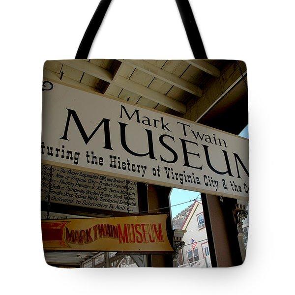 Mark Twian Museum Virginina City Nv Tote Bag by LeeAnn McLaneGoetz McLaneGoetzStudioLLCcom
