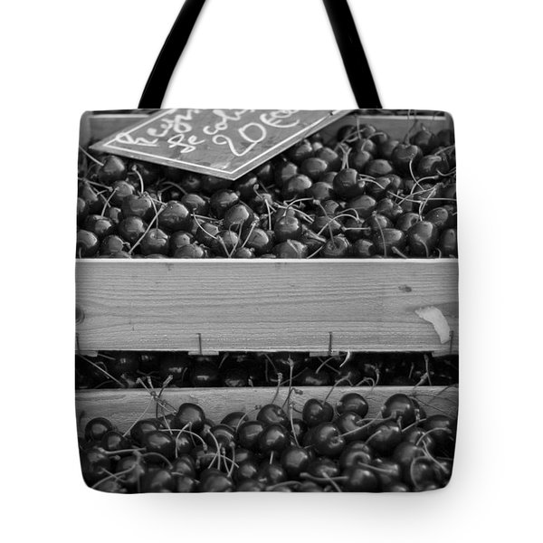 Market Cherries Tote Bag by Nomad Art And  Design