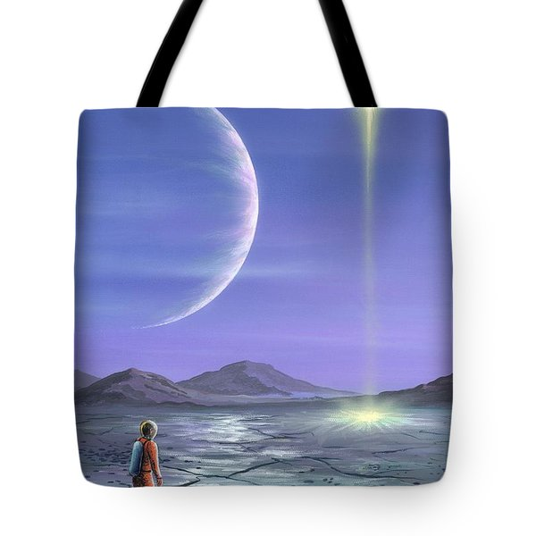 Marooned Astronaut Tote Bag by Richard Bizley and Photo Researchers