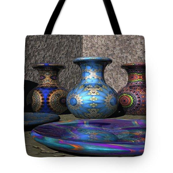 Marrakesh Open Air Market Tote Bag by Lyle Hatch