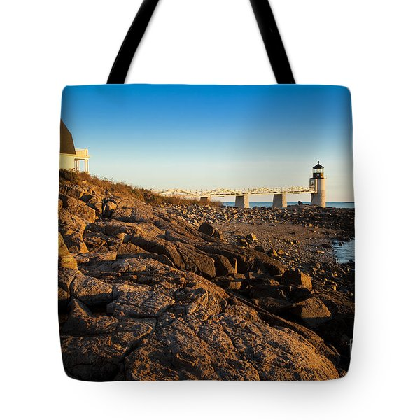 Marshall Point Lighthouse Tote Bag by Brian Jannsen