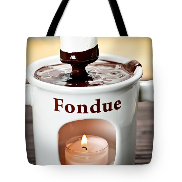 Marshmallow Dipped In Chocolate Fondue Tote Bag by Elena Elisseeva
