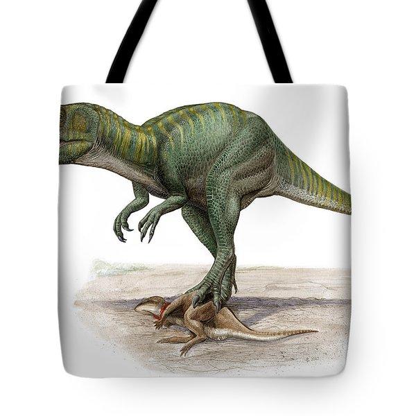 Marshosaurus Bicentesimus Tote Bag by Sergey Krasovskiy