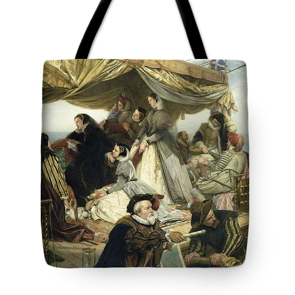 Mary Stuart's Farewell To France Tote Bag by Henry Nelson O Neil