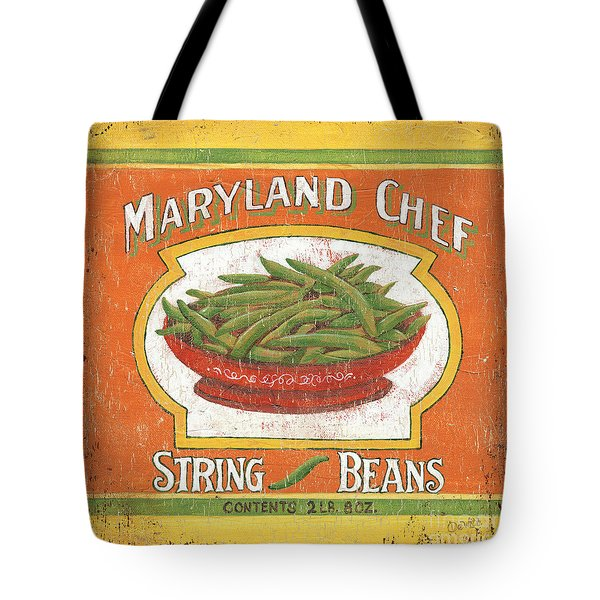 Maryland Chef Beans Tote Bag by Debbie DeWitt