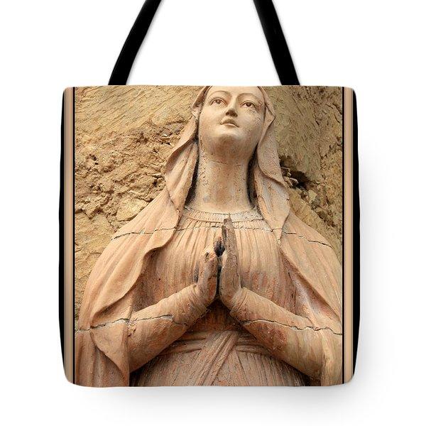 Mary's Prayers Tote Bag by Carol Groenen
