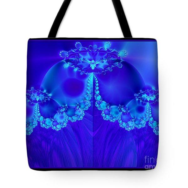 Marys Veil Fractal 60 Tote Bag by Rose Santuci-Sofranko