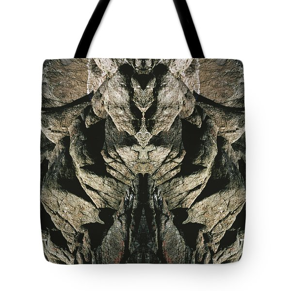 Masked Rock God Of Ogunquit  Tote Bag by Nancy Griswold