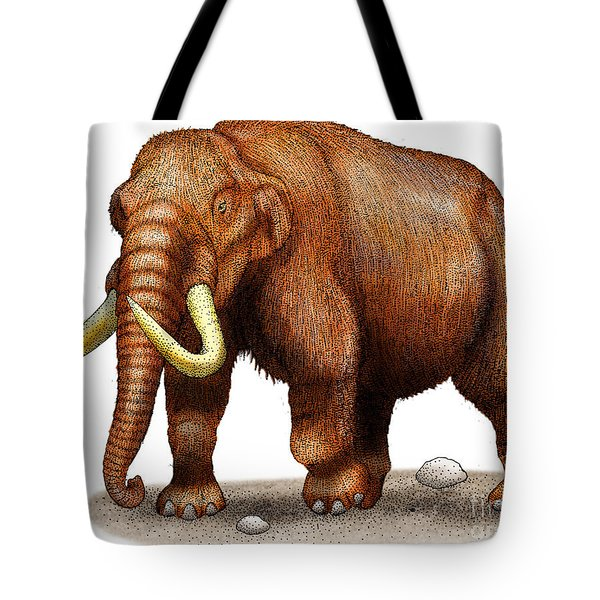 Mastodon Tote Bag by Roger Hall and Photo Researchers
