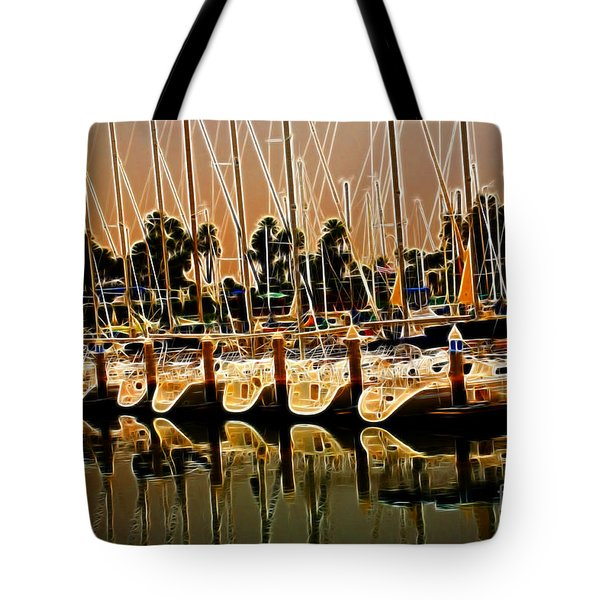 Masts Tote Bag by Cheryl Young