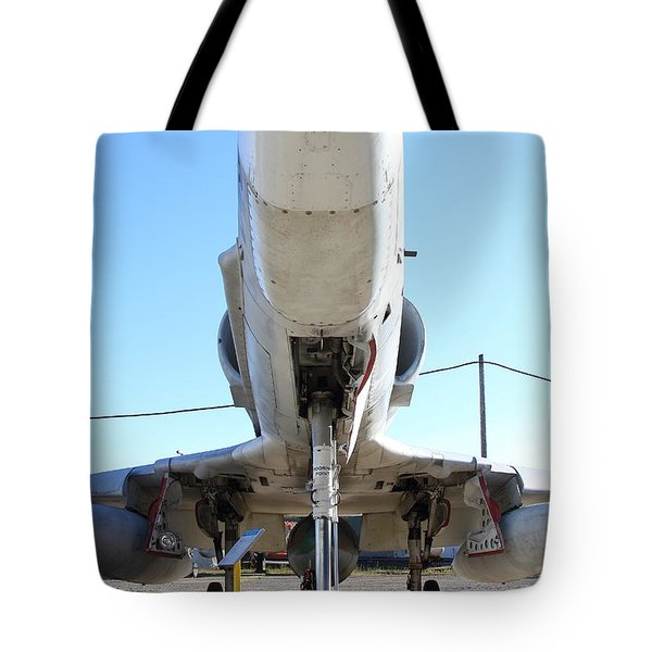McDonnell Douglas TA-4J Skyhawk Aircraft Fighter Plane . 7D11202 Tote Bag by Wingsdomain Art and Photography