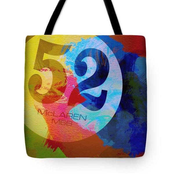 Mclaren Watercolor Tote Bag by Naxart Studio