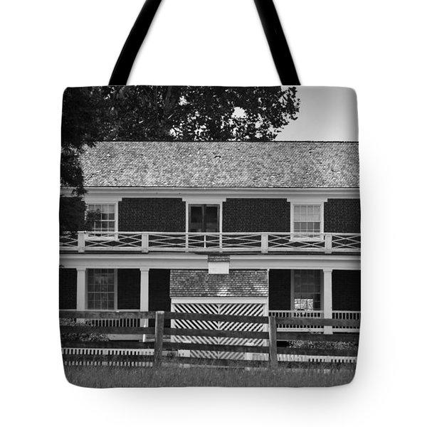 McLean House BW Appomattox Virgnia Tote Bag by Teresa Mucha