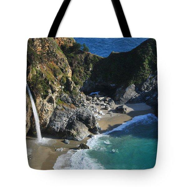 Mcway Falls Tote Bag by Lynn Bauer