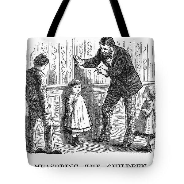 Measuring Children, 1876 Tote Bag by Granger