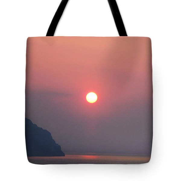 Medaterainian Sunset Tote Bag by Bill Cannon
