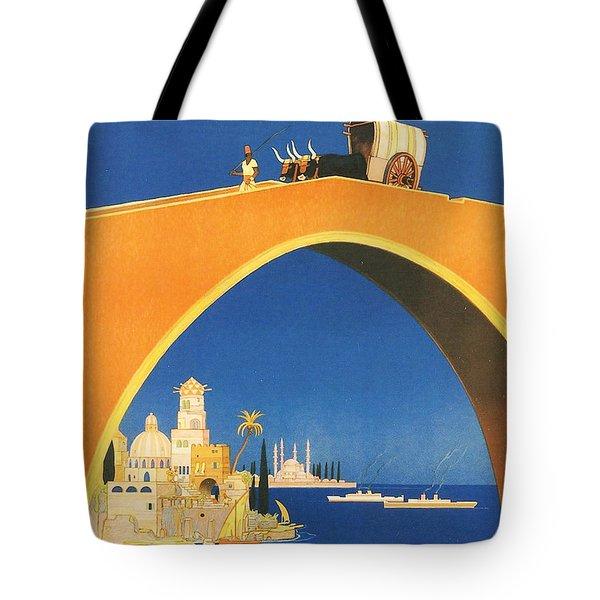 Mediterranean Cruising Tote Bag by Georgia Fowler