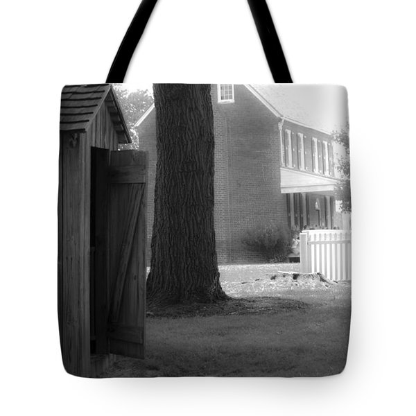 Meeks Outhouse Tote Bag by Teresa Mucha