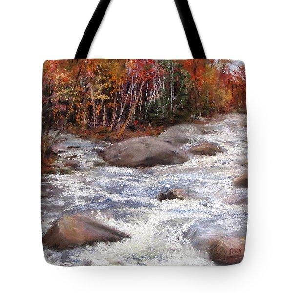 Meeting Of The Waters Tote Bag by Jack Skinner