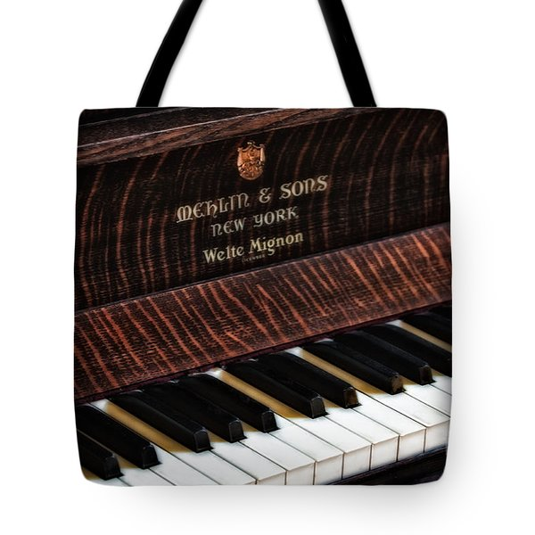 Mehlin And Sons Piano Tote Bag by Susan Candelario