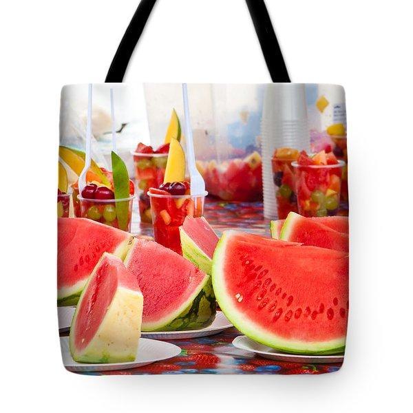 Melons Tote Bag by Tom Gowanlock