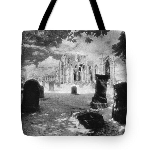 Melrose Abbey Tote Bag by Simon Marsden