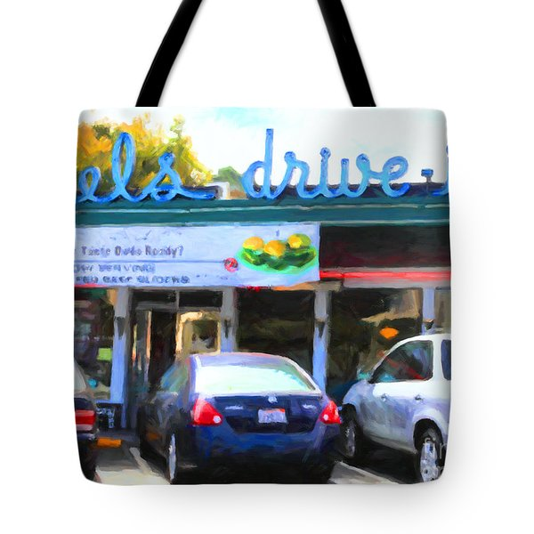 Mel's Drive-in Diner In San Francisco - 5d18014 - Painterly Tote Bag by Wingsdomain Art and Photography