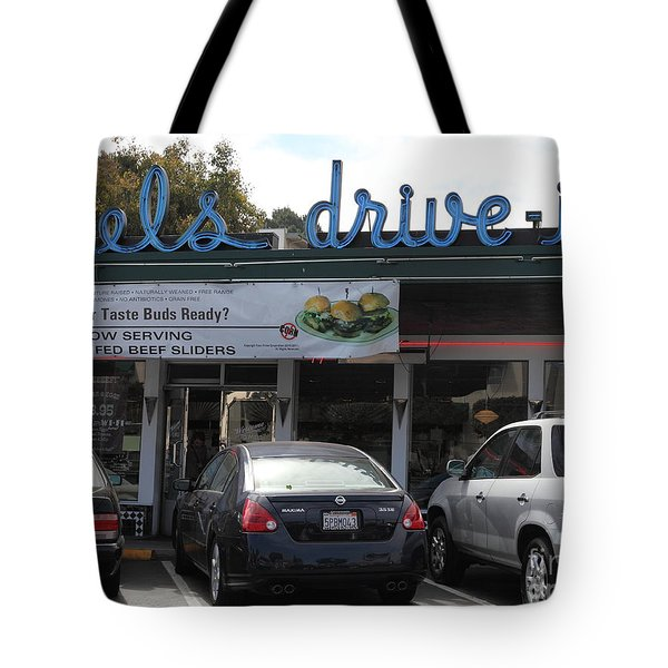 Mel's Drive-in Diner In San Francisco - 5d18014 Tote Bag by Wingsdomain Art and Photography