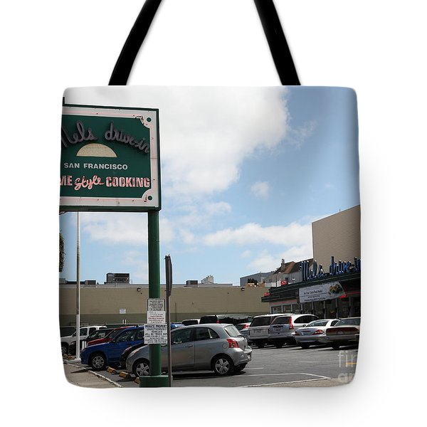 Mel's Drive-in Diner In San Francisco - 5d18045 Tote Bag by Wingsdomain Art and Photography