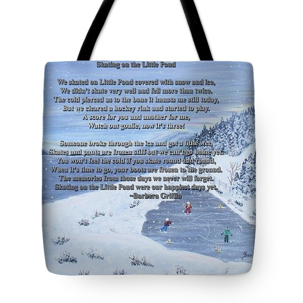 Memories Of A Little Pond Tote Bag by Barbara Griffin