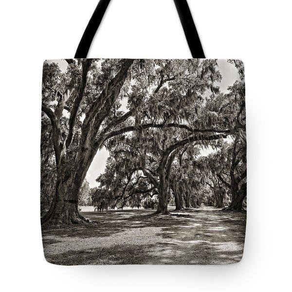 Memory Lane monochrome Tote Bag by Steve Harrington