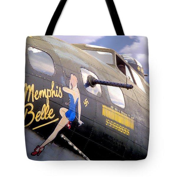 Memphis Belle Noce Art B - 17 Tote Bag by Mike McGlothlen