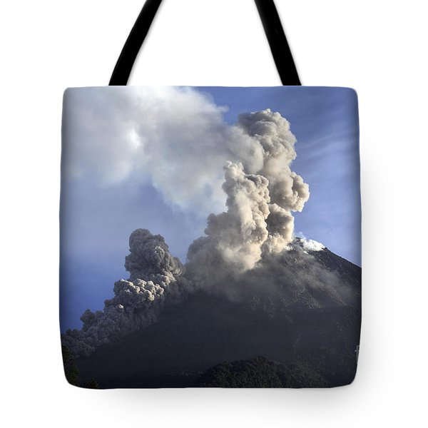 Merapi Eruption, Java Island, Indonesia Tote Bag by Martin Rietze