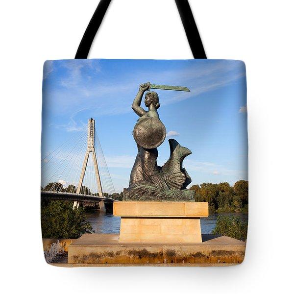 Mermaid Statue Tote Bag by Artur Bogacki