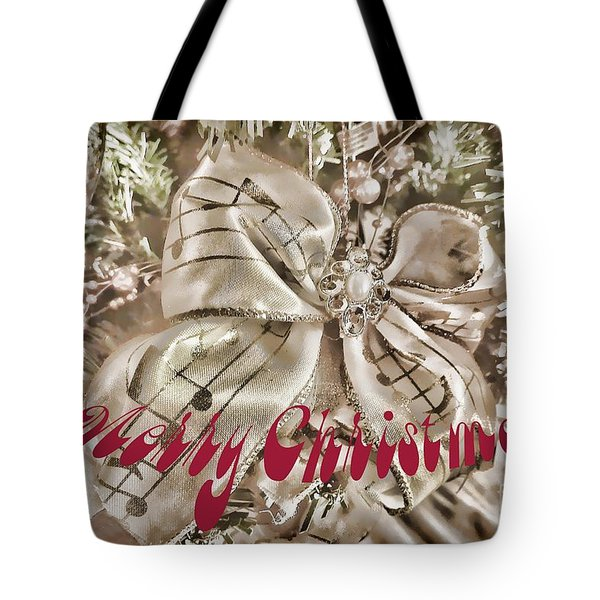Merry Christmas Tote Bag by Vickie Emms