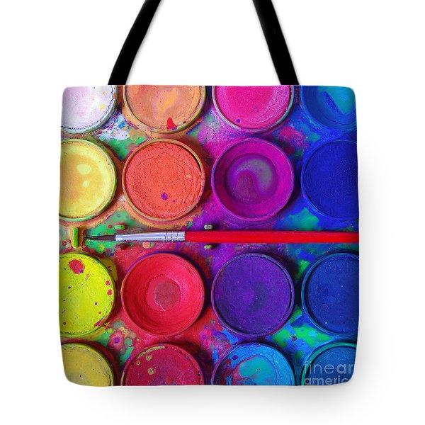 Messy Paints Tote Bag by Carlos Caetano