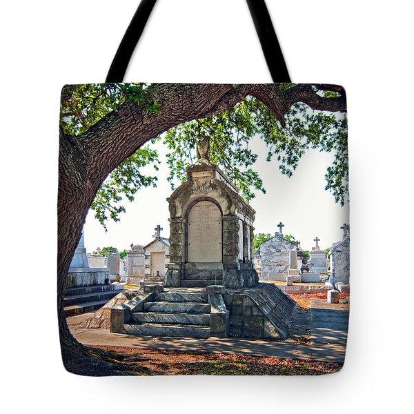 Metairie Cemetery Tote Bag by Steve Harrington