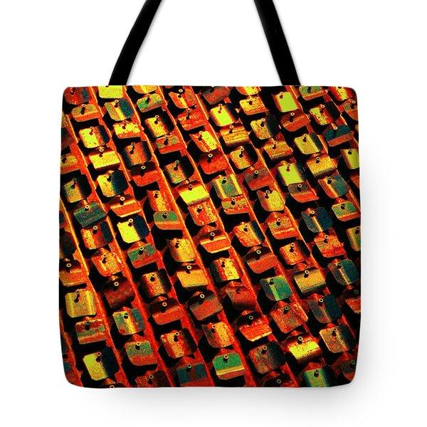 Metal Pop Art Tote Bag by Chris Berry