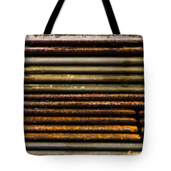 Metal Stripe  Tote Bag by Jean Noren
