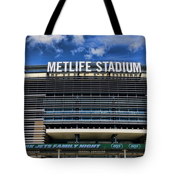 Metlife Stadium Tote Bag by Paul Ward
