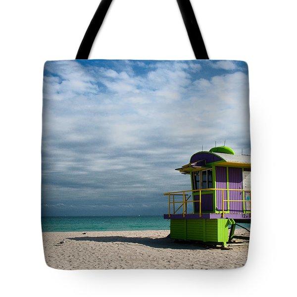 Miami 12th Street Beach Tote Bag by Barbara McMahon