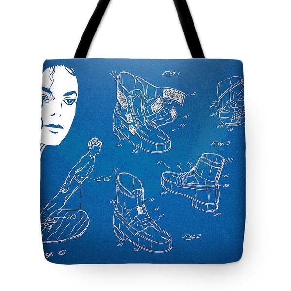 Michael Jackson Anti-Gravity Shoe Patent Artwork Tote Bag by Nikki Marie Smith