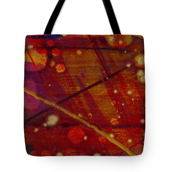Mickey's Triptych - Cosmos II Tote Bag by Angela L Walker