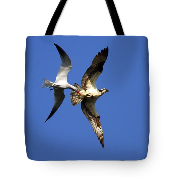 Mid-air Attack Tote Bag by Mike  Dawson